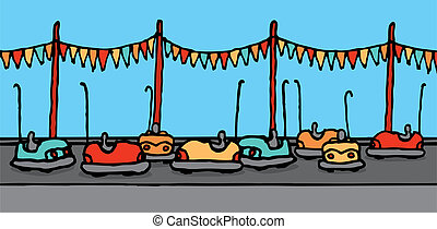 Bumper cars in carnival