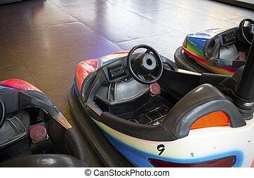 bumper cars at a fair