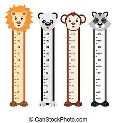 Bumper children meter wall. Animals
