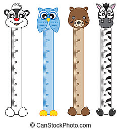 Bumper children meter wall. Animals Stickers