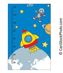 bumper children meter wall. space