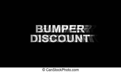 Bumper Discount Glitch Effect Text Digital TV Distortion 4K...