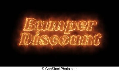 Bumper Discount Word Hot Animated Burning Realistic Fire...
