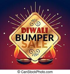 bumper diwali sale offer and discount presentation template