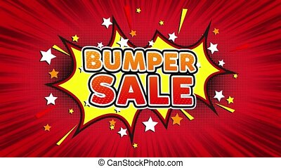 Bumper Sale Text Pop Art Style Comic Expression. - Bumper...