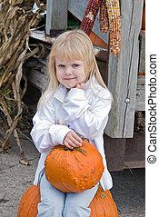 Bumpkin On A Pumpkin