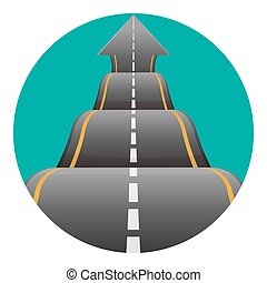 Bumpy road sign in round button on green backdrop vector...