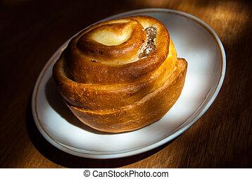 bun on plate