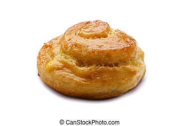 bun on white macro