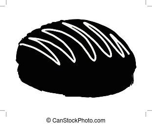 bun with chocolate