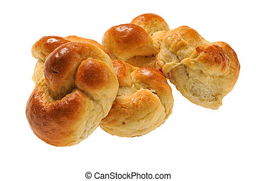 bun with jam isolated