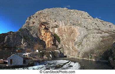 buna, panorama, fiume, fonte