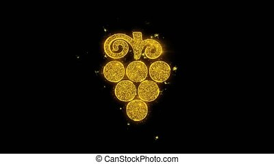 Bunch, food, fruit, grape, grapes Icon Sparks Particles on...