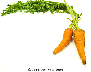 Bunch of baby carrot on isolated white background