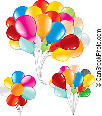 Bunch of Balloons - Bunch of celebration balloons, three...