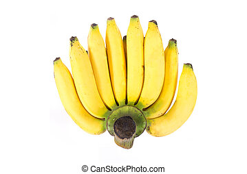 Bunch of bananas, isolated on white background