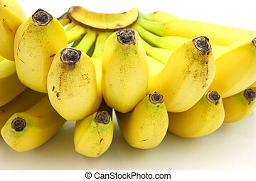 Bunch of bananas isolated on white background