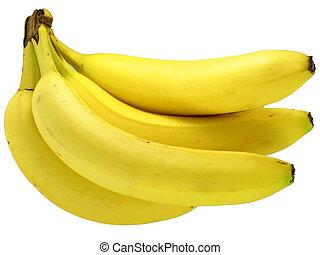 Bunch of Bananas - Fresh bunch of bananas on white...