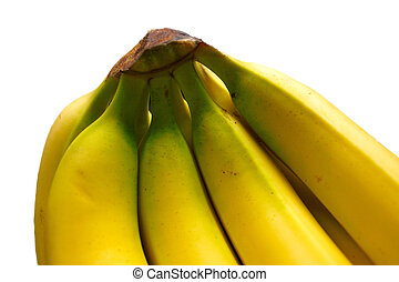 bunch of bananas - closeup of a bunch of bananas