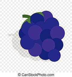 Bunch of blue grapes isometric icon