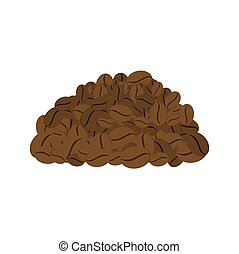 Bunch of coffee beans isolated. Vector illustration