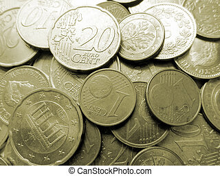 Bunch of coins on the pile