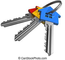 Bunch of color keys - Bunch of color house-shape keys