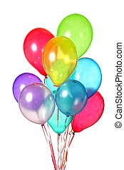 colorful balloons - bunch of colorful balloons isolated on ...