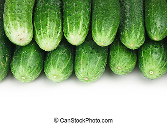 bunch of cucumbers