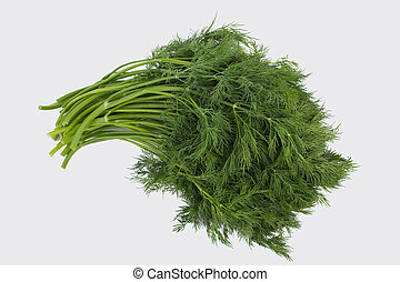 Bunch of dill isolated on white.