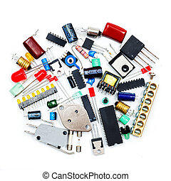 Bunch of electronic components