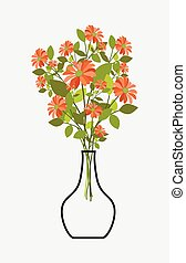 Bunch of Flowers with Vase