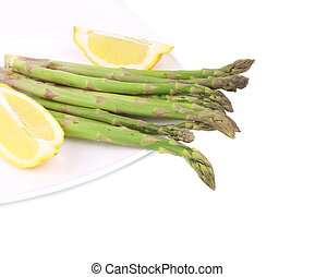 Bunch of fresh asparagus.