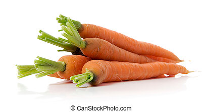 carrots - bunch of fresh carrots isolated over white...