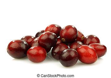 bunch of fresh cranberries