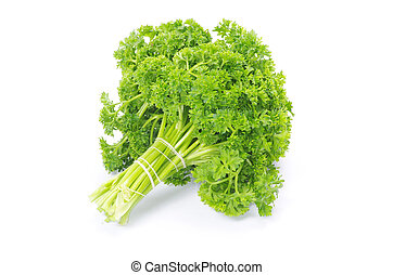 parsley - Bunch of fresh green parsley isolated on white ...