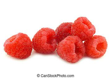 bunch of fresh raspberries