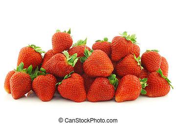 bunch of fresh strawberries