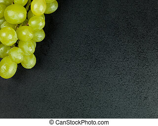Bunch of Fresh White Grapes