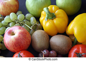 bunch of fruits & ve