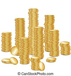 Bunch of gold coins