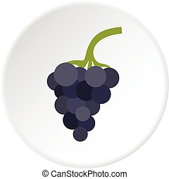 Bunch of grapes icon circle