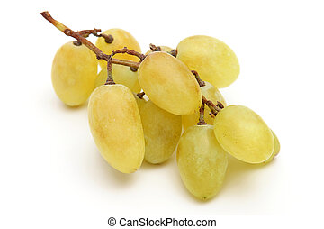 bunch of grapes on white background. vitamin food