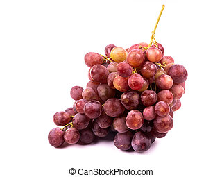 Bunch of grapes Red Globe on white background