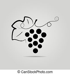 Bunch of grapes. Wine background.