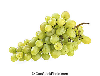 Bunch of green grape isolated on a white background