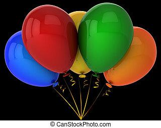 Bunch of helium balloons (Hi-Res)