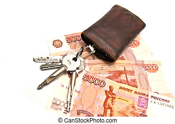 Bunch of keys and money