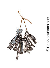 Bunch of keys on rope