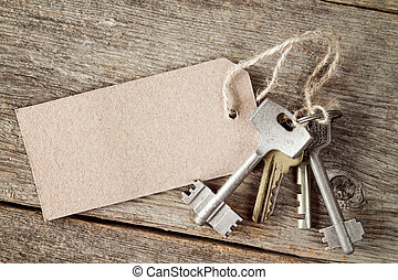 Bunch of keys with blank tag